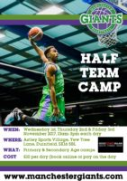 Manchester Giants October Half Term